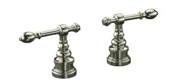 Kohler K-T6915-4-SN IV Georges Brass Deck-Mount High-Flow Lever Handles Trim Only - Satin Nickel