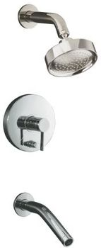 Kohler K-T948-4-CP Stillness Rite-Temp Pressure-Balancing Bath and Shower Faucet Trim with Lever Handle - Chrome