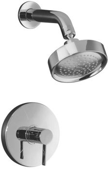 Kohler K-T949-4-CP Stillness Rite-Temp Pressure-Balancing Shower Faucet Trim with Lever Handle - Chrome