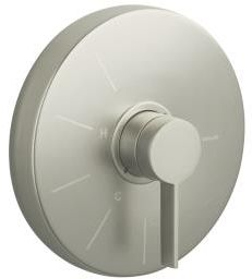 Kohler K-T950-4-SN Stillness Rite-Temp Valve Trim with Lever Handle - Polished Nickel (Pictured in Brushed Nickel)
