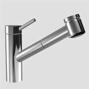 KWC 10.271.033.700 Suprimo One Handle Pull-Out Spray Kitchen Faucet - Stainless Steel