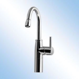 KWC 10.501.202.700 Systema One Handle Pull-Out Spray Kitchen Faucet - Stainless Steel (Pictured in Polished Chrome)