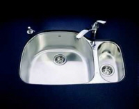 Kindred UC2132/90RK/E Crown Combination Bowl Undermount Stainless Steel Kitchen Sink