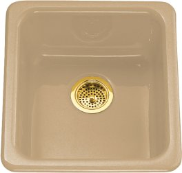 Koher K-6584-33 Iron/Tones Self Rimming or Undercounter Single Bowl Kitchen Sink - Mexican Sand