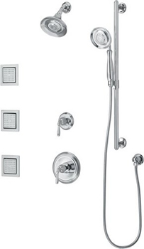 Kohler K-10855-4 Double Handle Shower System - Oil Rubbed Bronze (Pictured in Polished Chrome)