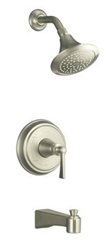 Kohler K-T11077-4-BN Archer Bath and Shower Faucet Trim with Lever Handle - Brushed Nickel