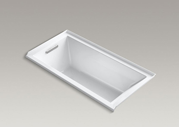Kohler K-1167-LVB Underscore Soaking Bathtub - White