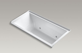 Kohler K-1167-RVBC Underscore Soaking Bathtub - White