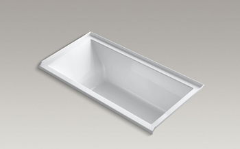 Kohler K-1167-RVB Underscore Soaking Bathtub - White