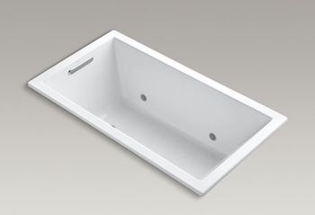 Kohler K-1168-VBC Underscore Soaking Bathtub Drop In - White