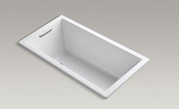 Kohler K-1168-VB Underscore Soaking Bathtub Drop In - White