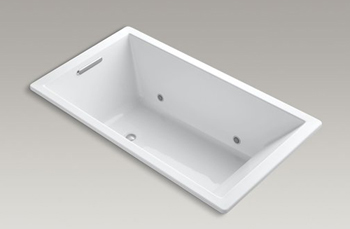 Kohler K-1173-VBC Underscore Soaking Bathtub Drop In - White