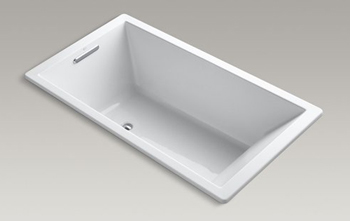 Kohler K-1173-VB Underscore Soaking Bathtub Drop - White