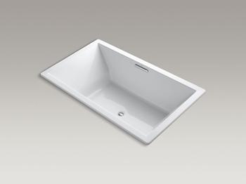 Kohler K-1174-VB Underscore Soaking Bathtub Drop In - White