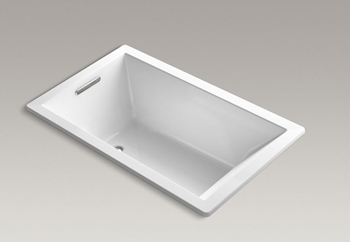 Kohler K 1849 Vb Underscore Soaking Bathtub Drop White