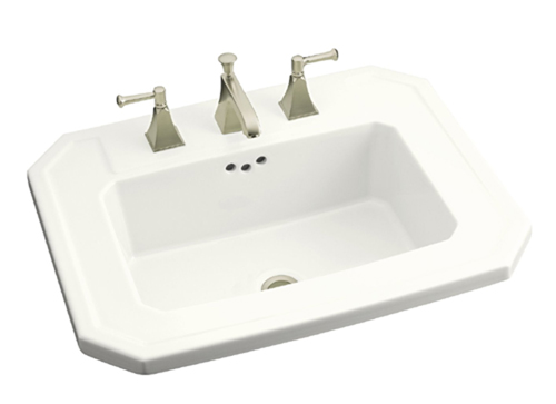 Kohler K-2325-1-0 Kathryn Self-Rimming Lavatory with Single-Hole Faucet Drilling - White