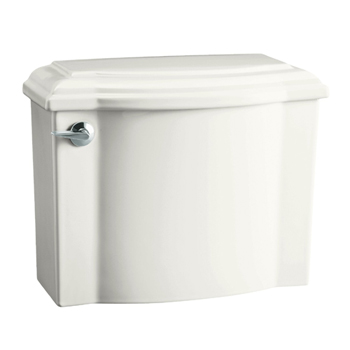 Kohler K-4446-47 Devonshire Class Five High Efficiency Toilet Tank - Almond (Pictured in White)