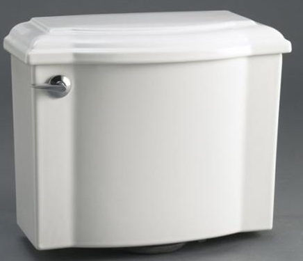 Kohler K-4708-7 Devonshire Toilet Tank - Black (Pictured in White)