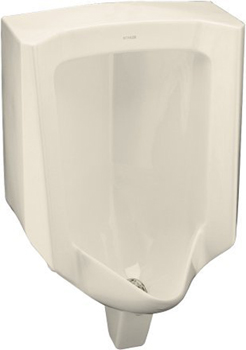 Kohler K-4960-ER-47 Bardon Urinal with Rear Spud - Almond