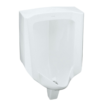 Kohler K-4960-ER-7 Bardon Urinal with Rear Spud - Black (Pictured in White)