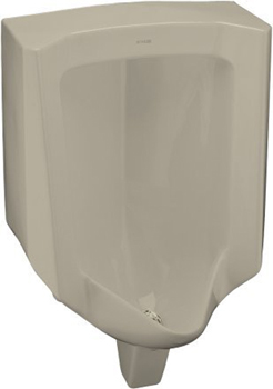 Kohler K-4960-ER-G9 Bardon Urinal with Rear Spud - Sandbar
