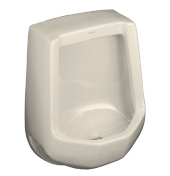 Kohler K-4989-R-47 Freshman Urinal with Rear Spud - Almond