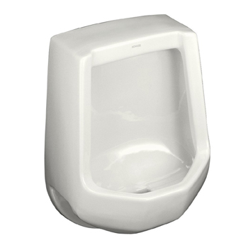 Kohler K-4989-R-7 Freshman Urinal with Rear Spud - Black (Pictured in White)