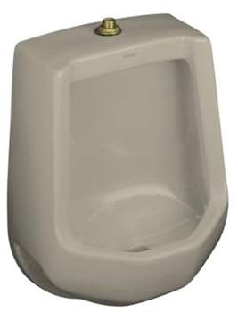 Kohler K-4989-T-G9 Freshman Urinal with Top Spud - Sandbar