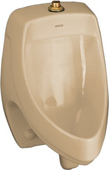 Kohler K-5016-ET-33 Dexter Elongated Urinal with Top Spud - Mexican Sand