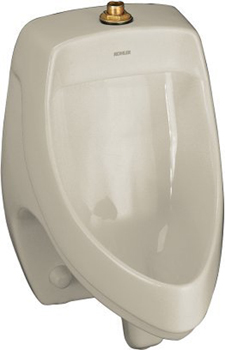 Kohler K-5016-ET-G9 Dexter Elongated Urinal with Top Spud - Sandbar
