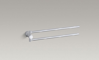 Kohler K-5669 Toobi Pivoting Towel Bar - Polished Chrome