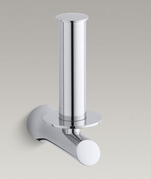 Kohler K-5673 Toobi Tissue Holder Vertical Mounting - Polished Chrome