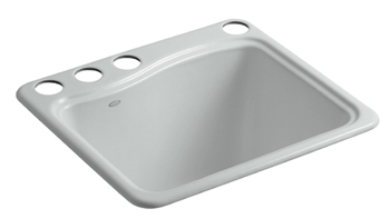 Kohler K-6657-4U-95 River Falls Undercounter Sink - Ice Grey