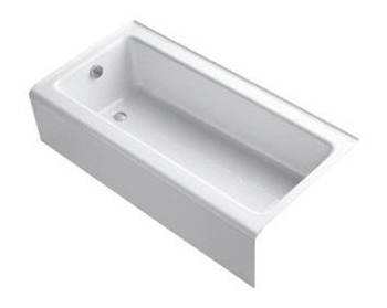 kohler k 837 bellwether bath tub 60 l x 30 1 4 w cast iron soakin