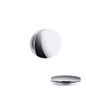Kohler K-T37391 PureFlo Basic Rotary Turn Cable Bath Drain Trim - Brushed Chrome (Pictured in Polished Chrome)