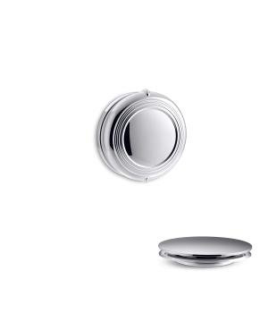 Kohler K-T37393 PureFlo Traditional Rotary Turn Cable Bath Drain Trim - Vibrant Brushed Nickel (Pictured in Polished Chrome)