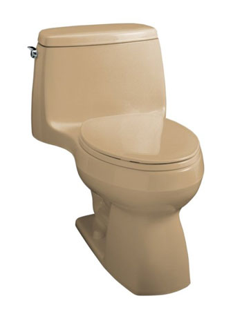 Kohler K-3323-33 Santa Rosa Compact Elongated Toilet With Seat, Cover and Left-Hand Trip Lever - Mexican Sand
