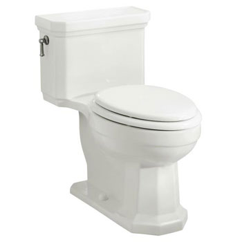 Kohler K-3324-0 Kathryn Comfort Height One-Piece Elongated Toilet, Less Seat - White