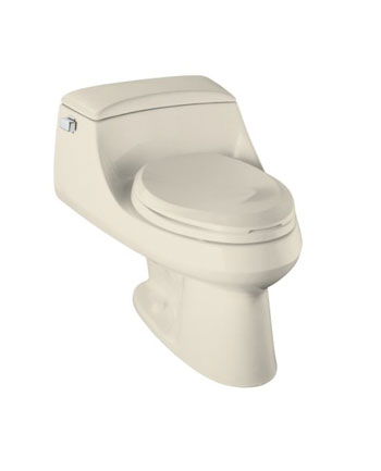 Kohler K-3466-47 San Raphael One-Piece Elongated Toilet with Concealed Trapway and French Curve Toilet Seat - Almond