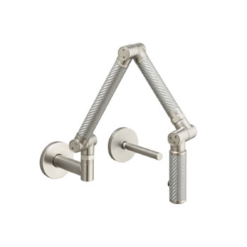 Kohler K-6228-VS Karbon Wall-Mount Kitchen Faucet - Vibrant Stainles Steel