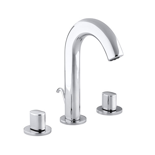 Kohler  K-10086-9-CP Oblo Two Handle Widespread Lavatory Faucet Polished Chrome