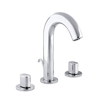 Kohler K 10086 9 Cp Oblo Two Handle Widespread Lavatory Faucet Polished Chrome