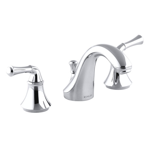 Kohler K-10272-4A-CP Forte Widespread Lavatory Faucet with Traditional Lever Handles - Polished Chrome