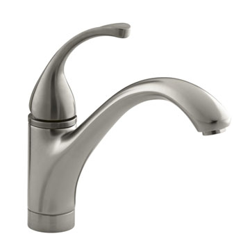 Kohler K 10415 BN Forte Single Handle Kitchen Faucet Brushed Nickel