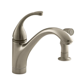 Kohler K-10416-BV Forte Single Control Kitchen Faucet with Side Spray - Vibrant Brushed Bronze