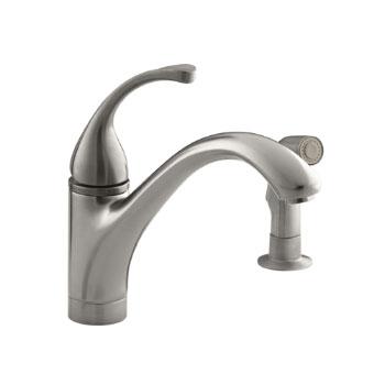 Kohler K 10416 Vs Forte Single Control Kitchen Faucet With Side Spray Vibrant Stainless