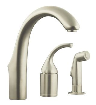 Kohler K-10441-VS Forte Entertainment Remote Valve Sink Faucet - Vibrant Stainless Steel