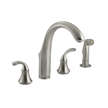 Kohler K-10445-BN Forte Widespread Kitchen Faucet - Brushed Nickel