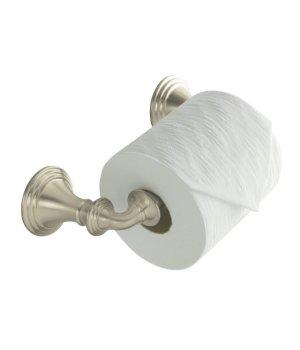 kohler k10554bn devonshire double post toilet tissue paper holder brushed nickel - Kohler Devonshire