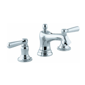 Kohler K-10577-4-CP Bancroft Widespread Lavatory Faucet With Metal Lever Handles Polished Chrome